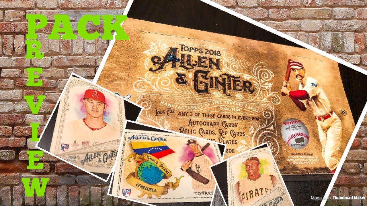 Pack Preview 2018 Topps Allen Ginter Baseball Cards
