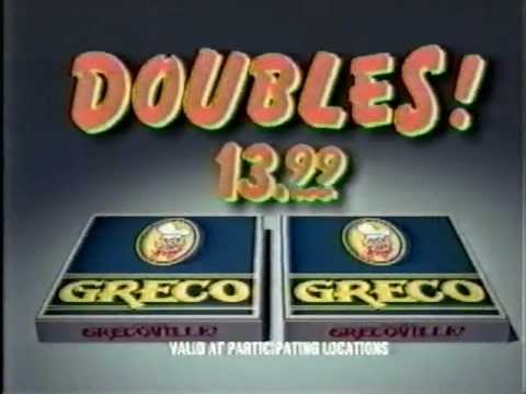 Greco Pizza Commercial 1993
