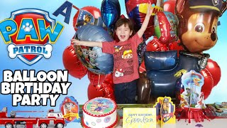 Paw Patrol Balloon Birthday Party! Marshall Ultimate Rescue Firetruck BIRTHDAY PRESENT!