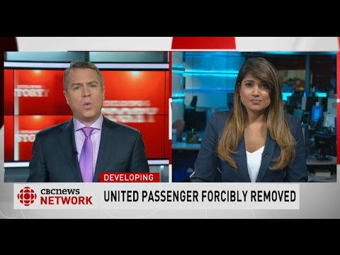 United Airlines forcibly removes passenger from overbooked flight