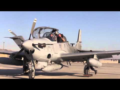 Afghan A-29s Arrive at Hamid Karzai International Airport