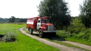 GAZ-63 firetruck drive-by