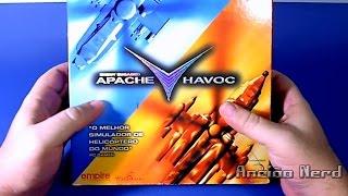 Simulador Apache Havoc, unboxing e gameplay (PC, MS-DOS, Windows 95, Windows 98). Game da coleção.