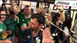 Rugby à XV - Coupe du monde : fête commune entre Écossais et Irlandais