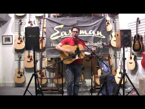 Mitch Gonzales performs at the acoustic Open Mic at Portland Music Company on Broadway