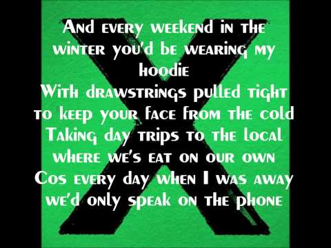 Ed Sheeran-Nina (with lyrics)