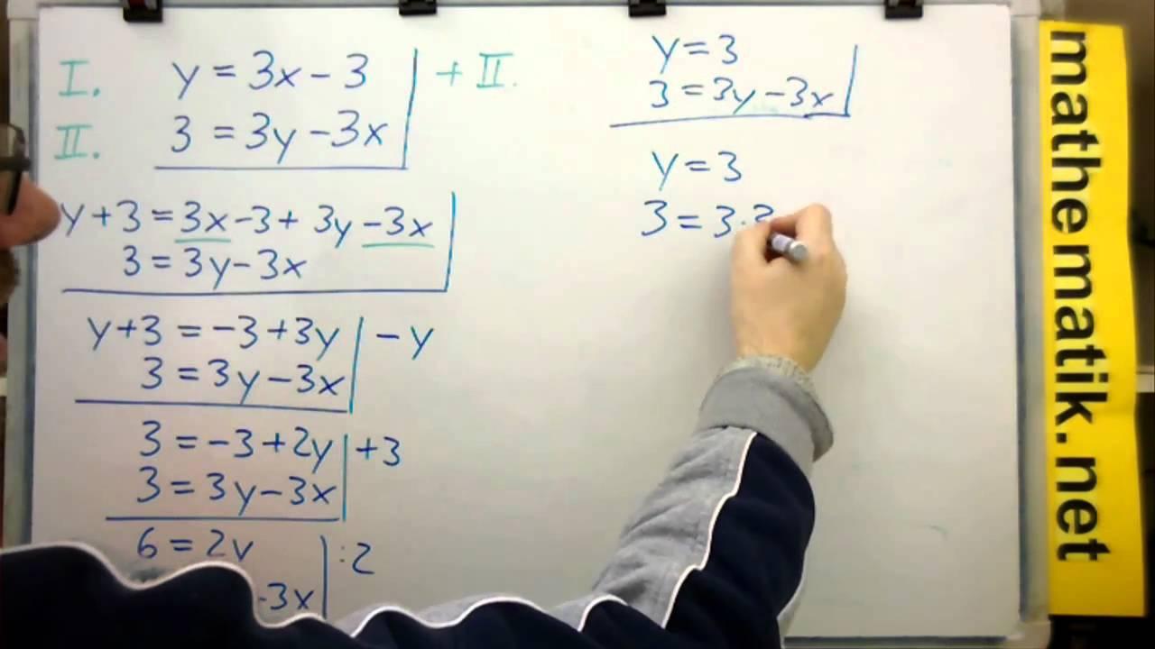 Additionsverfahren für Lineare Gleichungssysteme mit 2 Variablen ...