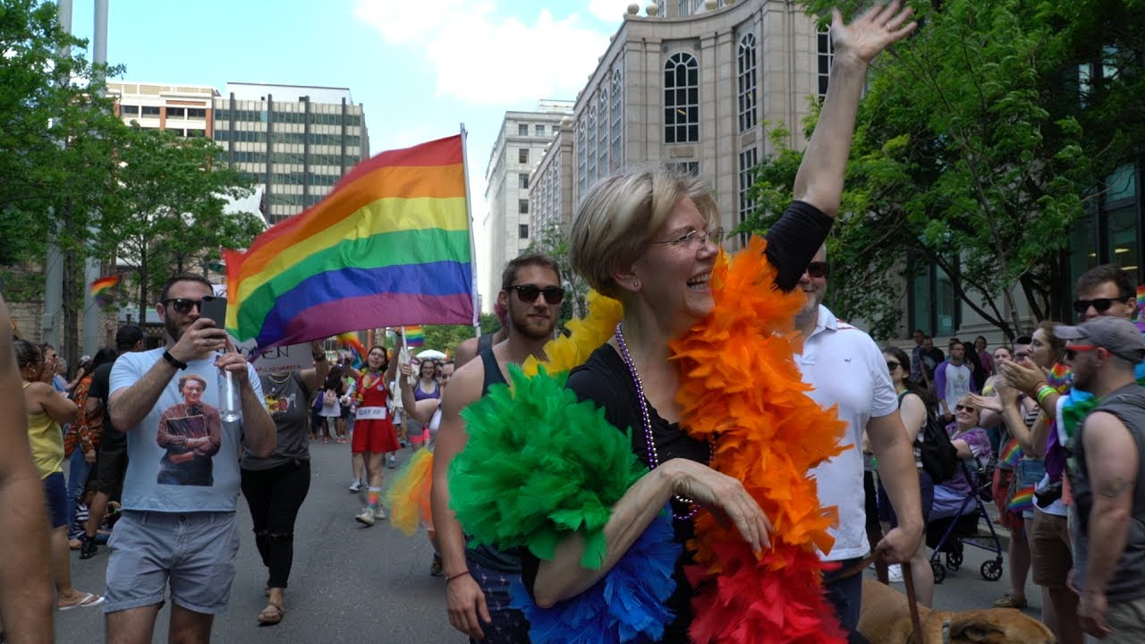 Dancing (not walking) in the Boston Pride Parade - YouTube