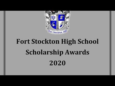 2020 Fort Stockton High School Scholarship Awards
