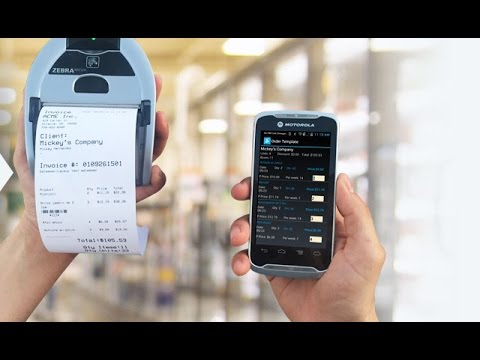 mobile invoicing printing create print invoices with tc55