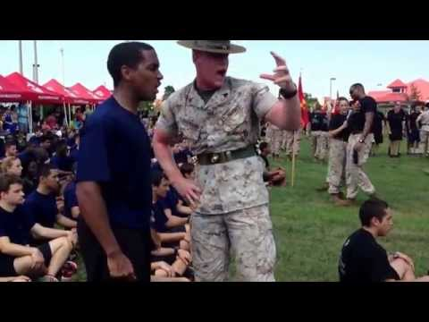Drill Instructor vs. Poolee (I see tears)