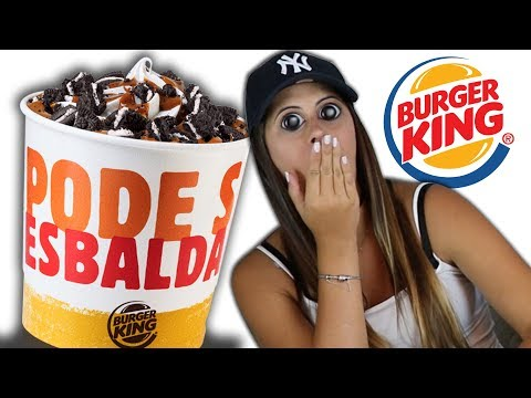 Balde de 1Litro de Sorvete com Oreo do Burger King