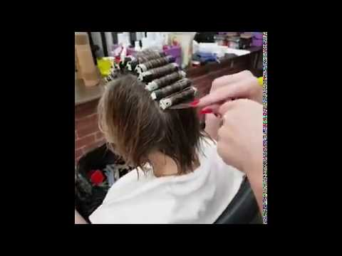 Стойкая/ долговременная/кислая укладка волос.  Локоны