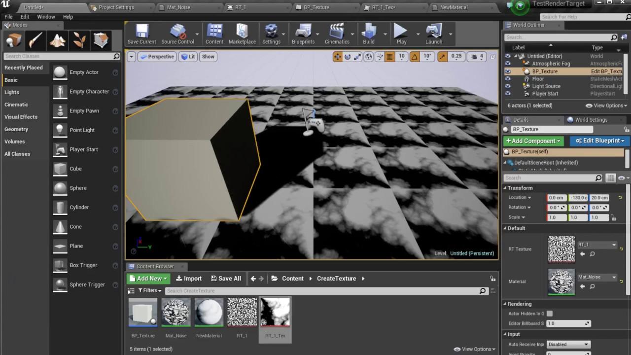 Unreal Engine 4 Utilisation du Render Target