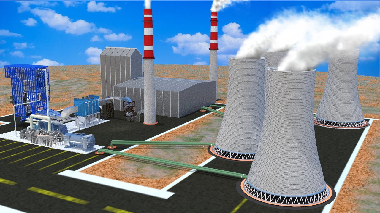 How Does A Thermal Power Plant Work Youtube Nuclear Simple Diagram