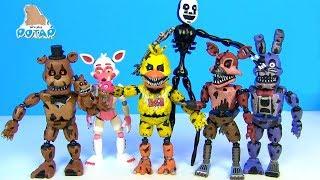ФНАФ Ночные Марионетки Фредди, Фокси, Чика и Бонни FNAF Видео для детей Мультик от My toys Potap