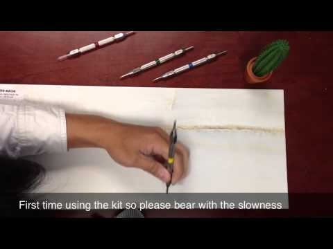 How To Use The MOHS Hardness Test Set On GlazedTile