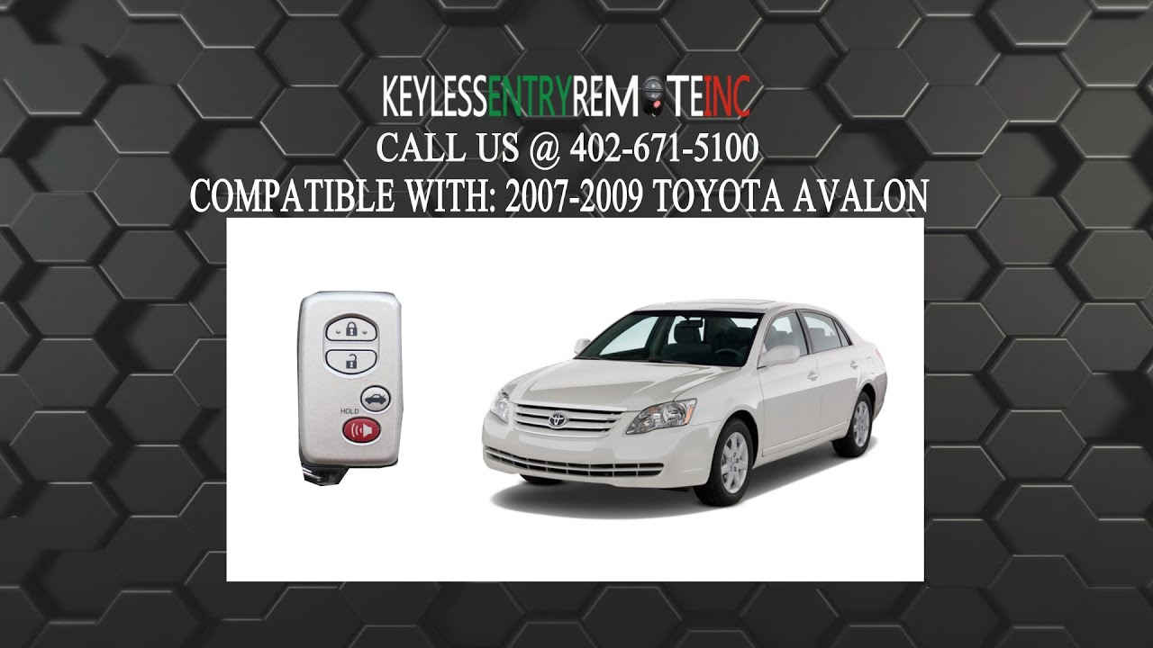 How To Replace A 2007 -2009 Toyota Avalon Key Fob Battery