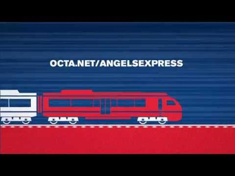 Ride the Angels Express Train to the Stadium