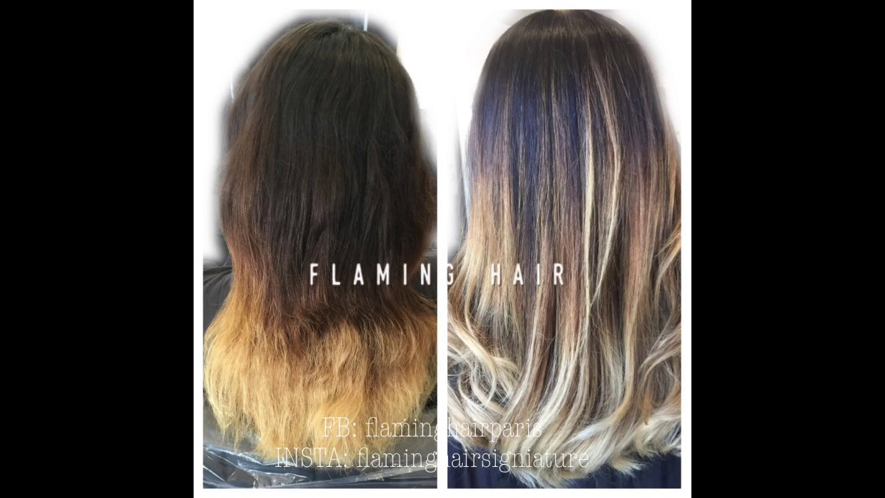 ombr hair ty and die balayage meche couleur olaplex transformation avant apres youtube. Black Bedroom Furniture Sets. Home Design Ideas