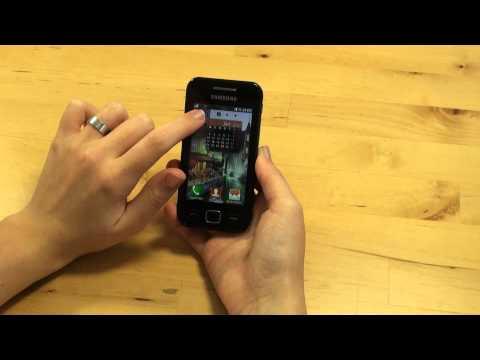 Samsung Wave 525 Test Bedienung