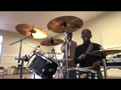 Drummer Kid Play At Temple Of Worship Fellowship Church
