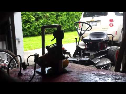 Weed trimmer engine air compressor experiment