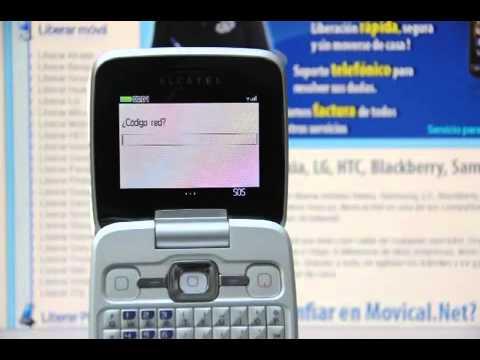Liberar Alcatel Gloss OT 808, desbloquear Alcatel OT 808 de Vodafone Movical Net