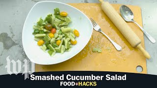 Smashed Cucumber Salad | Mary Beth Albright's Food Hacks