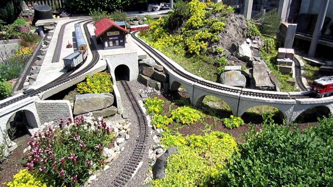 Lgb Gartenbahn Rhb Bahnhof Filisur Youtube