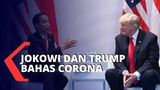 Jokowi-Trump Bahas Penanganan Corona