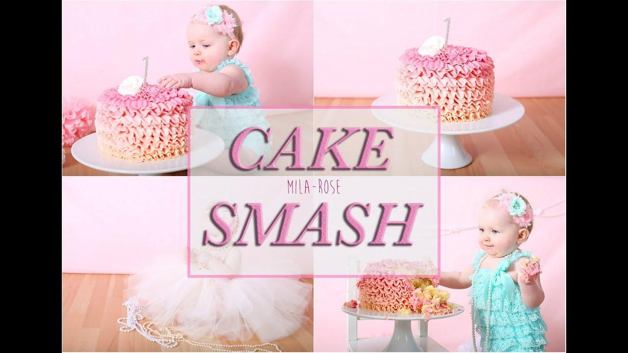 Mila-Rose CAKE SMASH! Video + Photos - YouTube