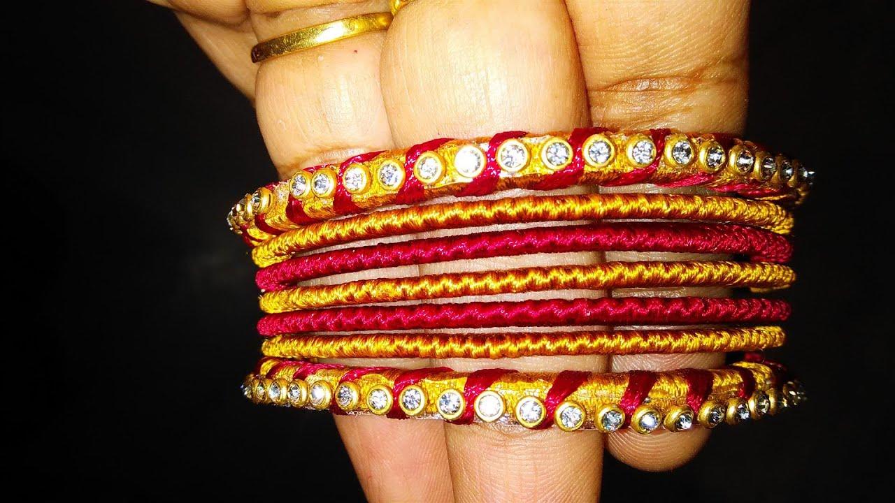 How to make silk thread bangles at home by prasanna modala st