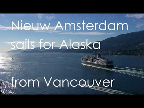"""Nieuw Amsterdam"" sails for Alaska from Vancouver"