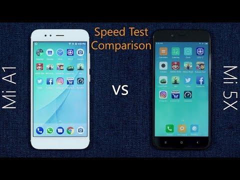 Xiaomi Mi A1 vs Mi 5X Speed Test Comparison