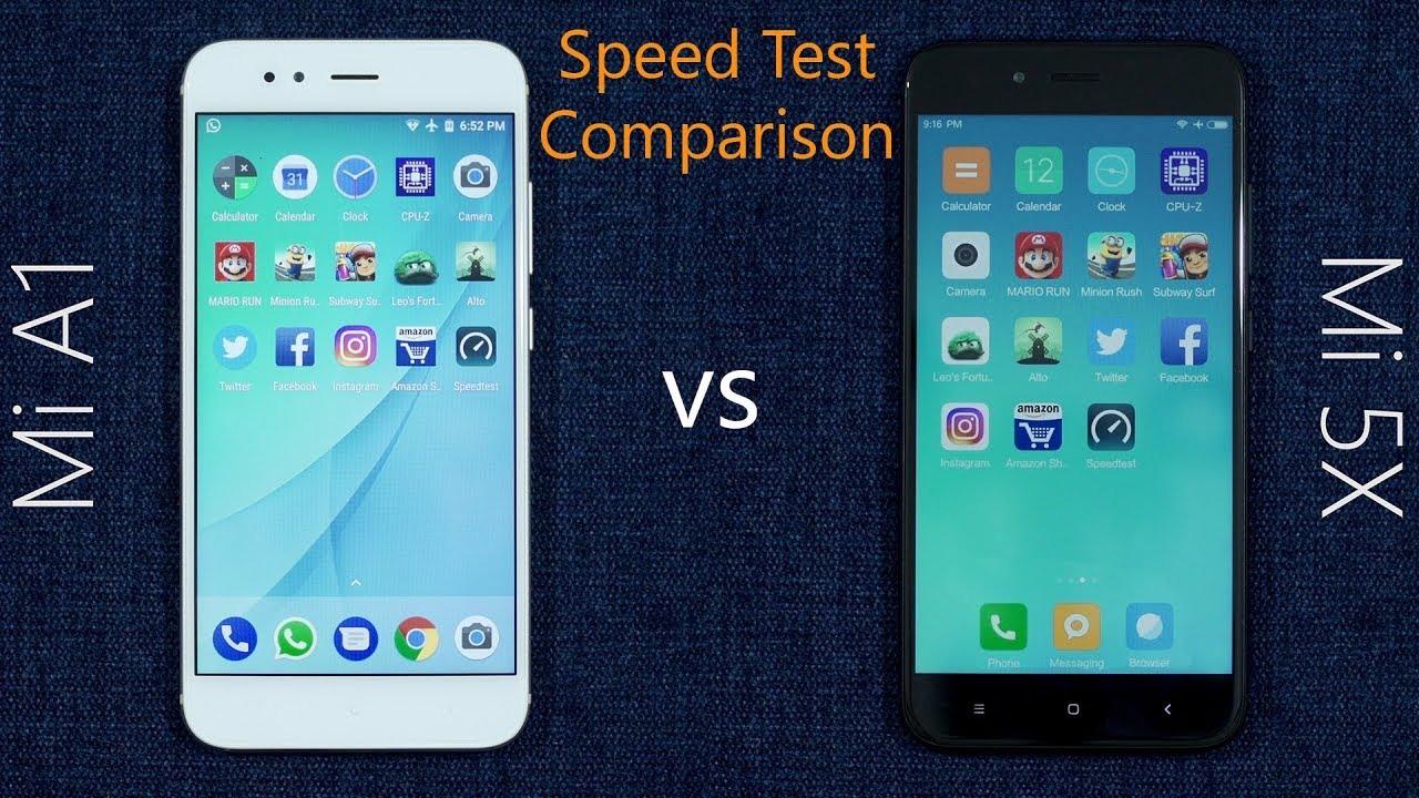 Xiaomi Mi A1 vs Mi 5X Speed Test Comparison