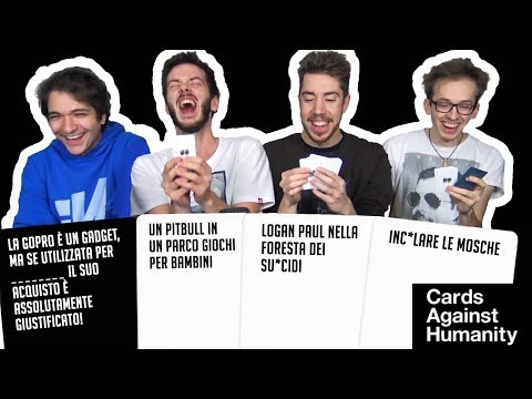 CARDS AGAINST HUMANITY CON LE NOSTRE CARTE PERSONALIZZATE!