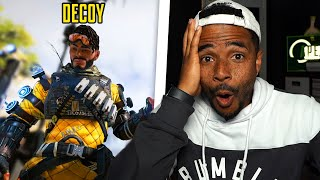 Pretending to be a decoy in Apex Legends...