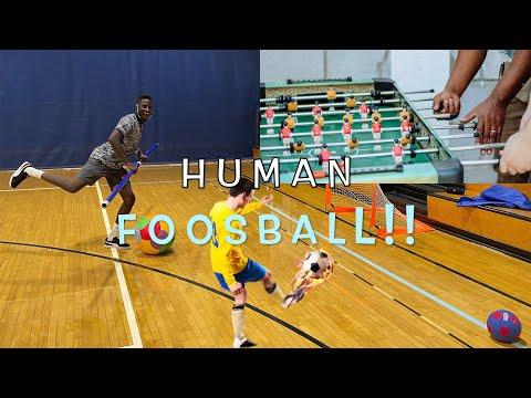 Super fun Human foosball game | PE Games