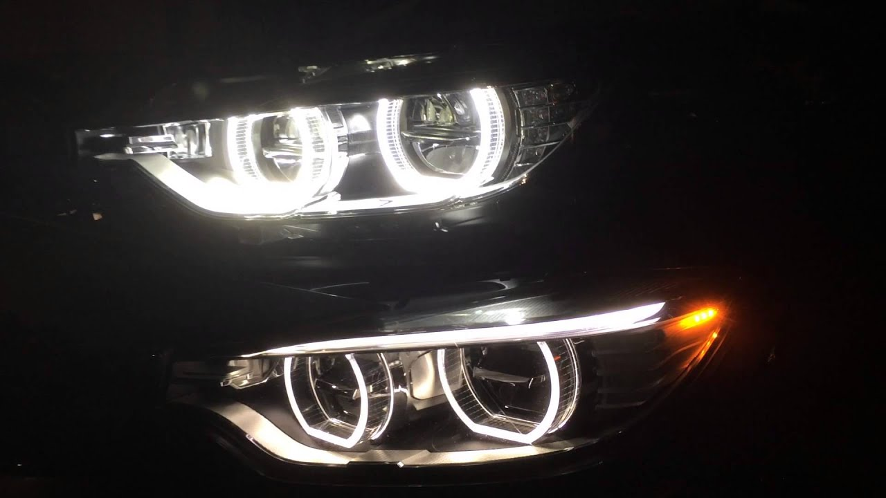 Bmw F30 Led Headlights Comparison With M4 Oem Youtube