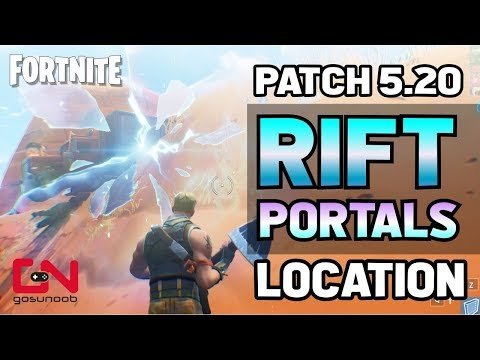 Fortnite Find Rift Portals Where To Find Them After Patch 5.20