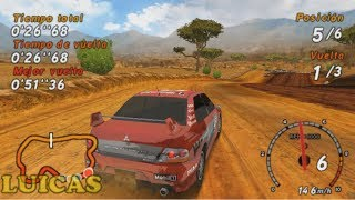 Sega Rally Revo Mitsubishi Lancer Evolution Mis primeras Carreras PSP Gameplay 1080p HD PPSSPP