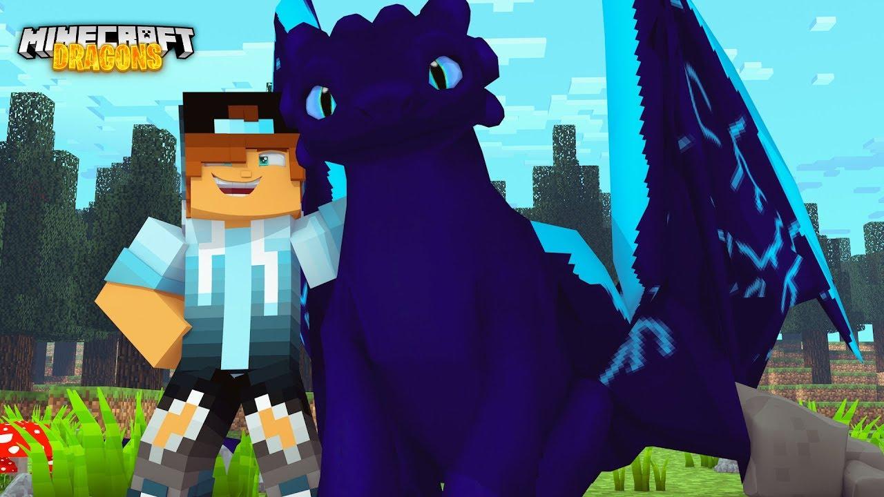 Ultra Rare Bluedash Nightfury Minecraft Dragons W Daiton