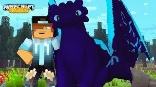ULTRA RARE BLUEDASH NIGHTFURY! Minecraft Dragons w/ Daiton