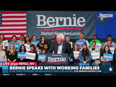 Bernie Speaks to Working Families in Reno