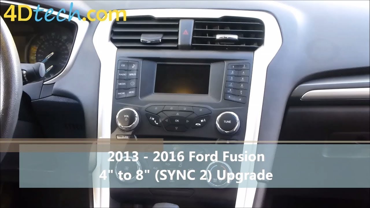 4 Quot To 8 Quot Upgrade W Sync 2 2013 2016 Ford Fusion Youtube