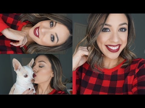 Easy Holiday Makeup   Using all drugstore products!