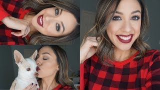 Easy Holiday Makeup | Using all drugstore products!