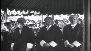 King George V and Queen Mary attend thanksgiving service at St. Paul