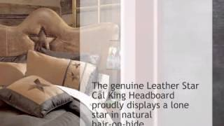 Leather Star Headboard - Cal King - Lonestarwesterndecor.com